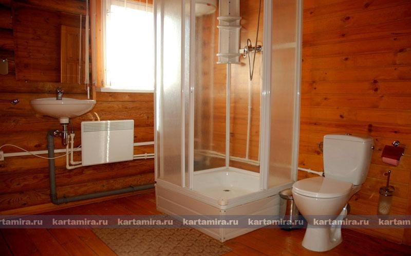 Туалет в деревенском доме своими руками